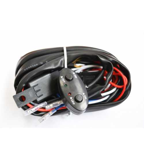 Kit releu cabluri 2x butoane interior 2x sigurante 2x trasee independente proiectoare ledbar etc