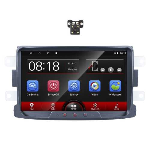 Set Navigatie Dacia Duster, Logan, Dokker, Lodgy, Sandero,Camera, ANDROID, 8 inch, Harta Full EU, Usb, Touchscreen, Can-Bus