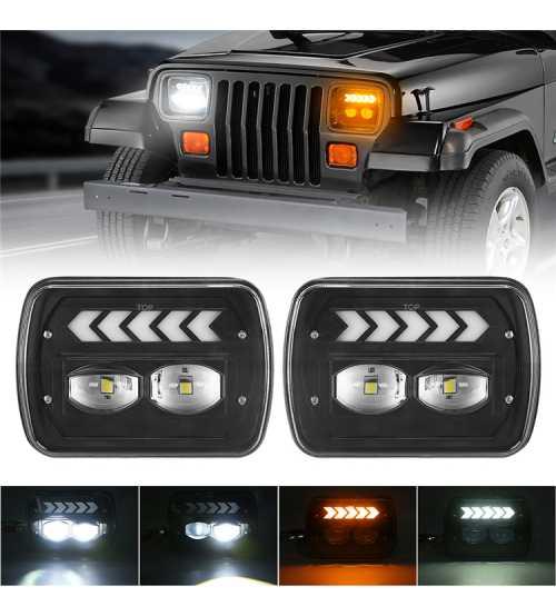 Set Set Faruri LED JEEP Wrangler YJ / Cherokee XJ Toyota, ETC130W tm
