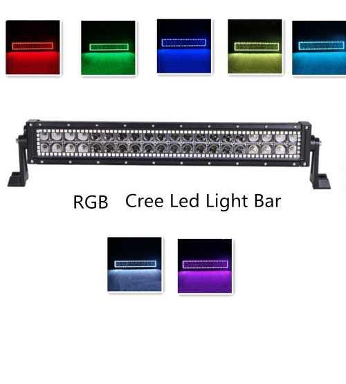 Led bar auto DRL RGB Telecomanda, Blitz, Flah Alimentare 12/24 V CREE