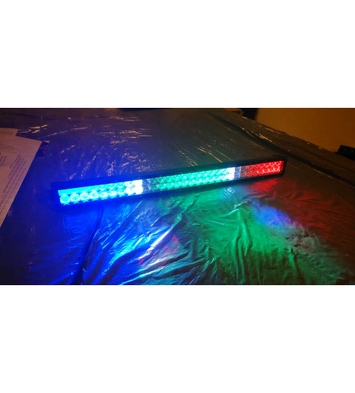 Led bar RGB+KIT telecomanda pe fir, Lumina 7D, lumina spot si flood+