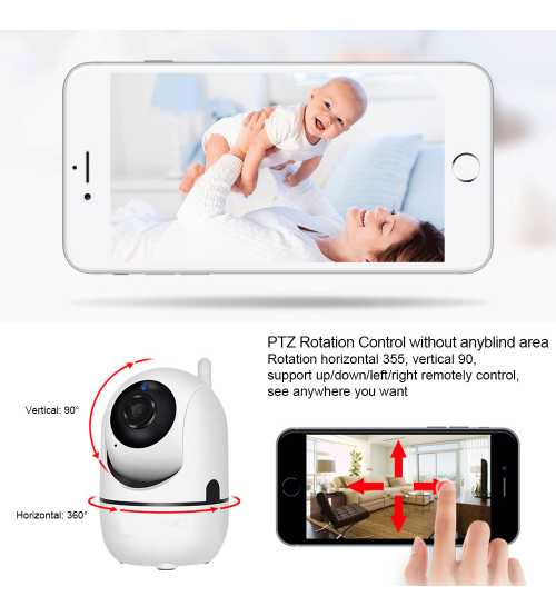 Camera de Supraveghere Interior IP Pan/Tilt Smart Wireless Wi-Fi RL27 HD 720P Android si IOS