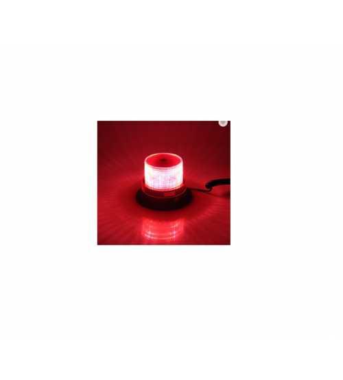 Girofar Omologat U.E. Cu Led SMD IP65 12-24V Lumina ROSIE.
