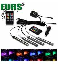 Kit 4 benzi LED RGB Interior/Exterior IP68 Dimmer Muzical SUPERBRITE. Montaj interior sau exterior.