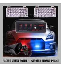 Pachet Sirena Police + Girofar Strabo Police