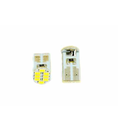 Bec pozitie 8 led SMD lumina albastra 12V (pret/set) 12034B